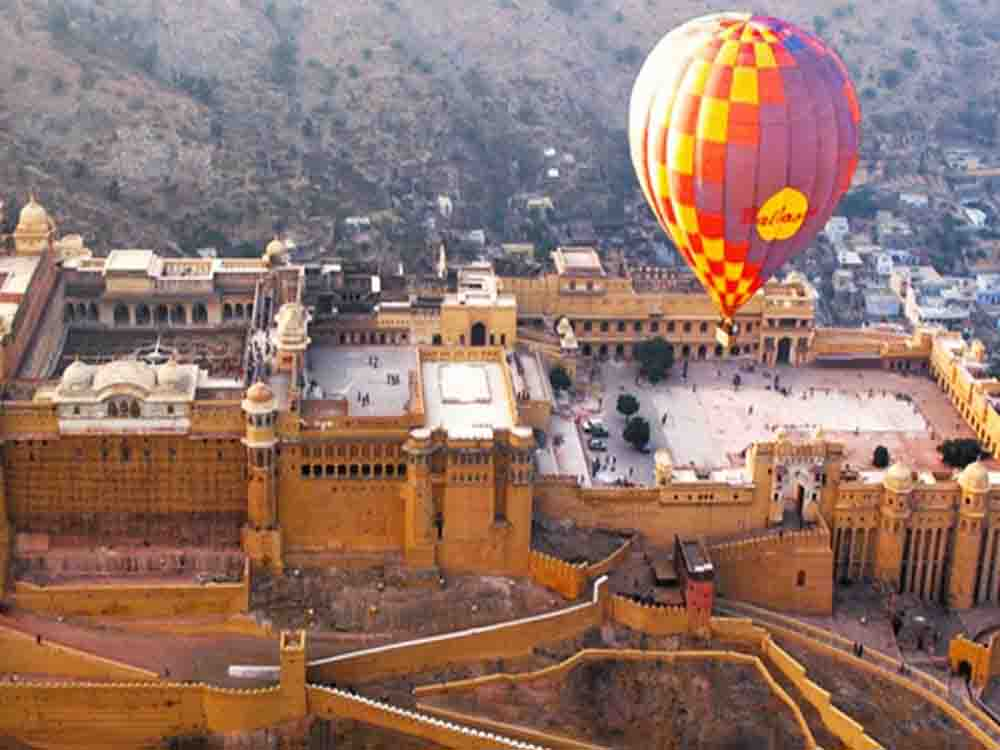 5. Get a bird's eye view of the city on a hot air balloon ride