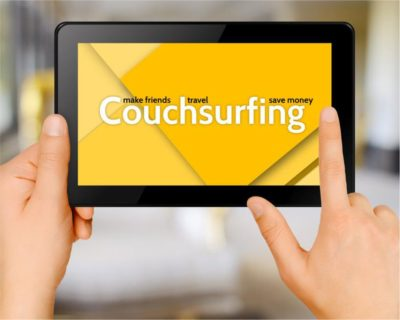 "Get a free stay with ""Couchsurfing"""