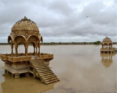 Gadisar Lake And Jain Temple Of Jaisalmer