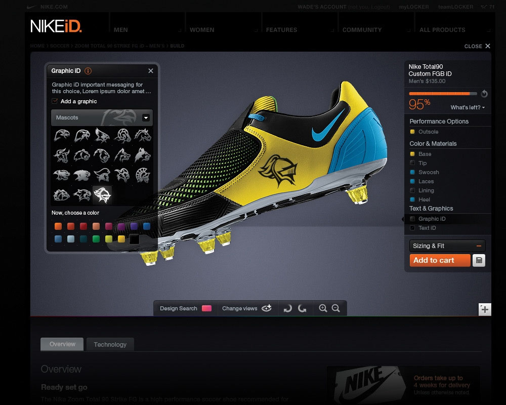 Go online with Nike