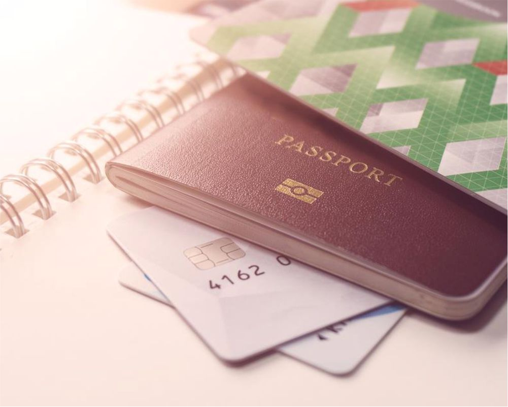 Important documents like visa, passport and identity card